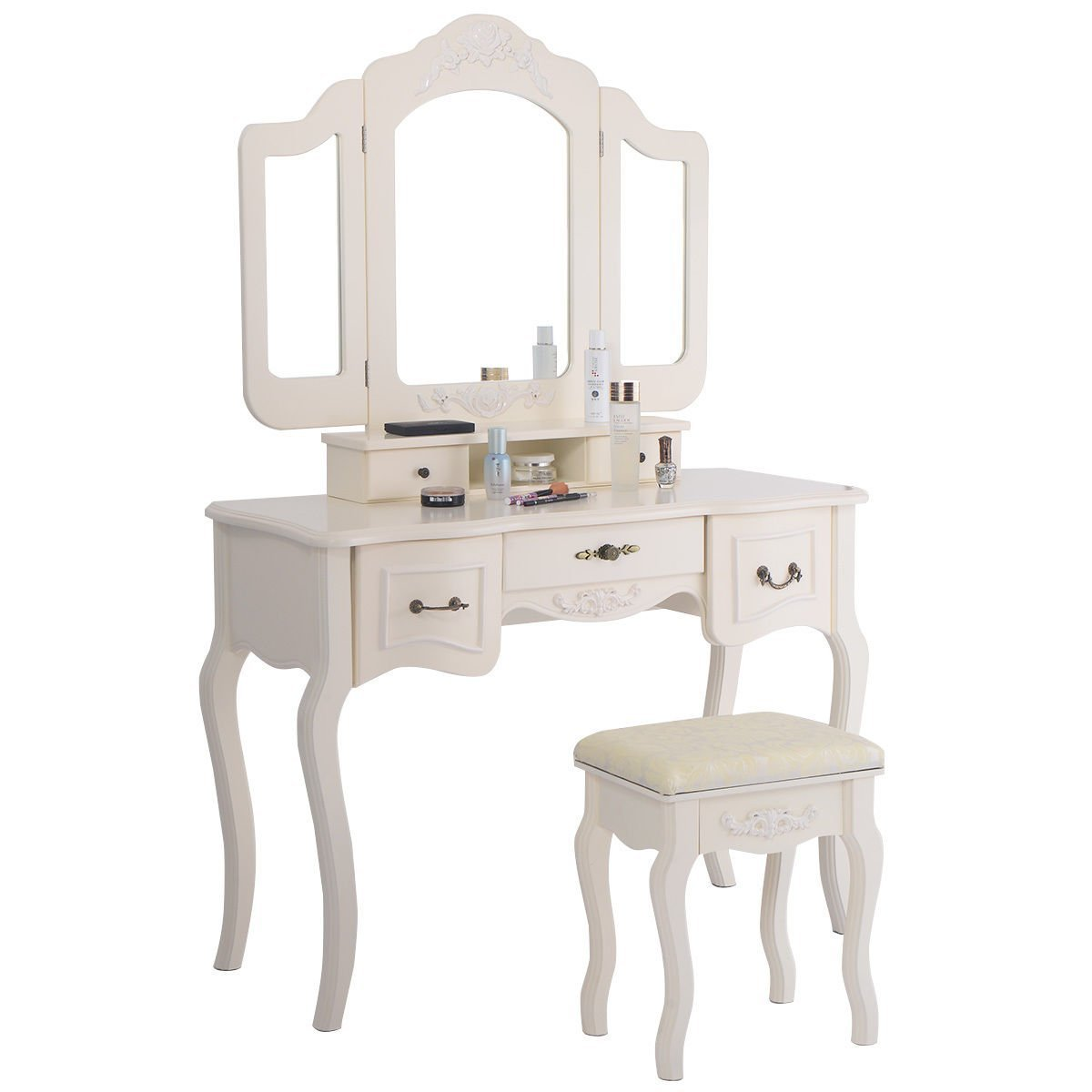 White Vanity Table And Chair Small White Vanity Table Home Furniture Design