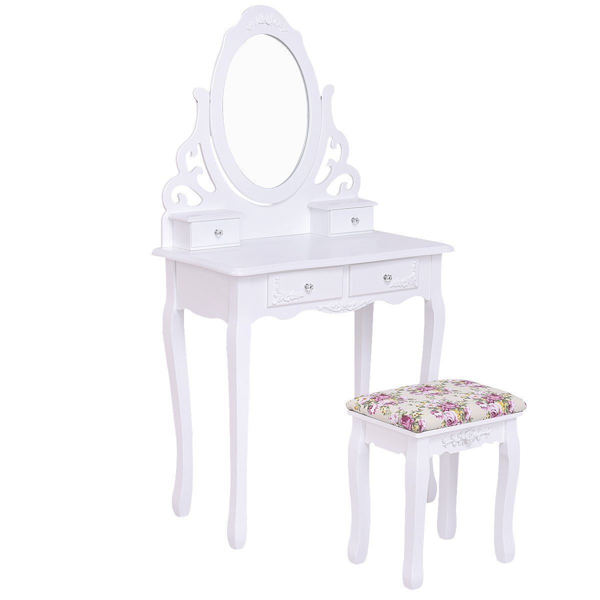 White Vanity Table And Chair White Makeup Vanity Table Home Furniture Design