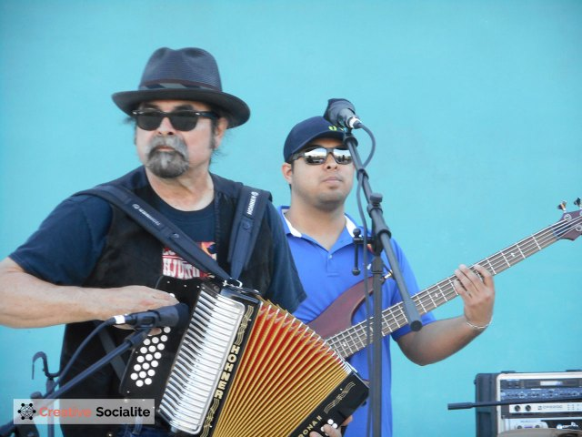 Professor Juan Tejeda (left) is leader of Conjunto Palo Alto.