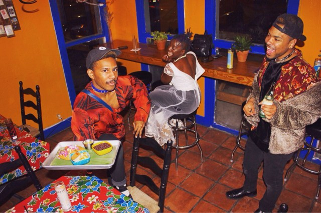 Bobby, Breezy and Gemel of the House of Kenzo smelled this home cooking and KiKi'd right over.