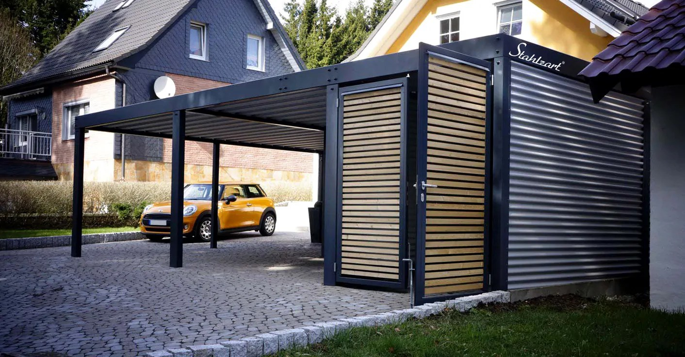 Stahl Carport | Metall Holz Carport