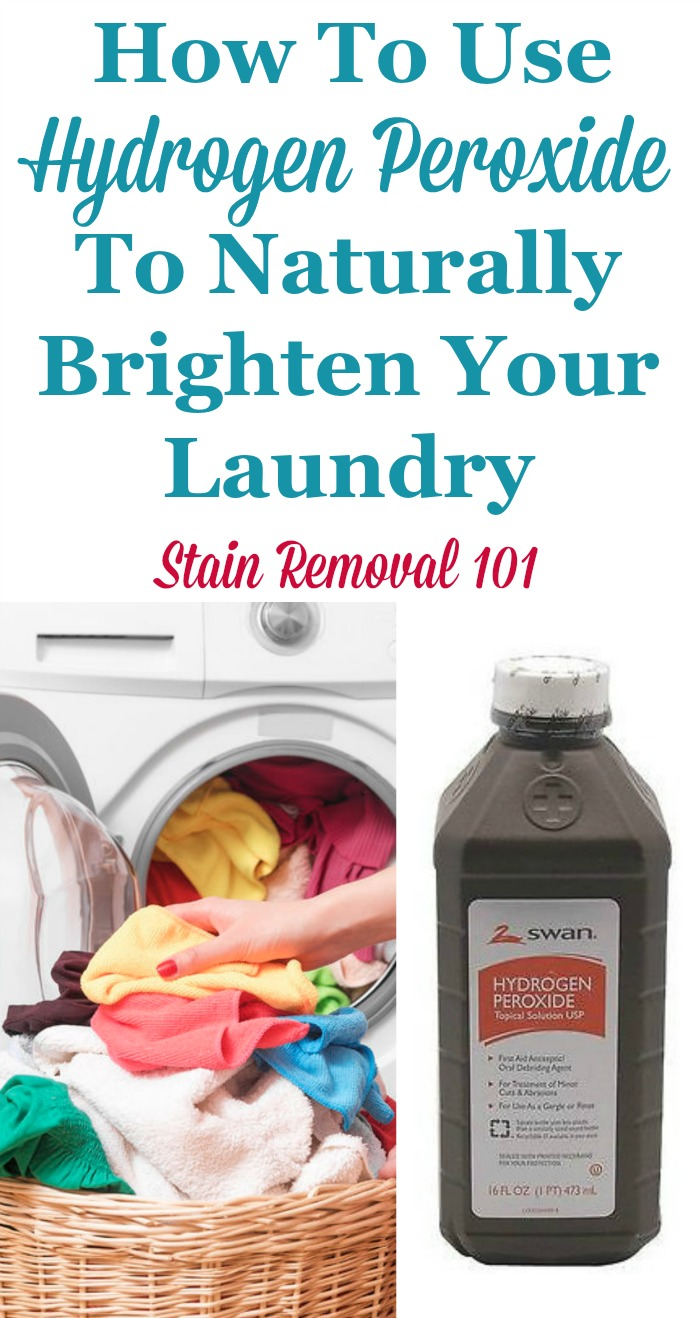 How To Get Urine Smell Out Of Clothes Uses Of Hydrogen Peroxide For Laundry
