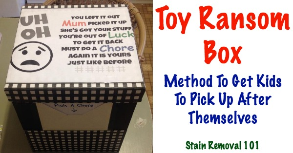 Box Spring Toy Ransom Box: Method To Get Kids To Pick Up After Themselves