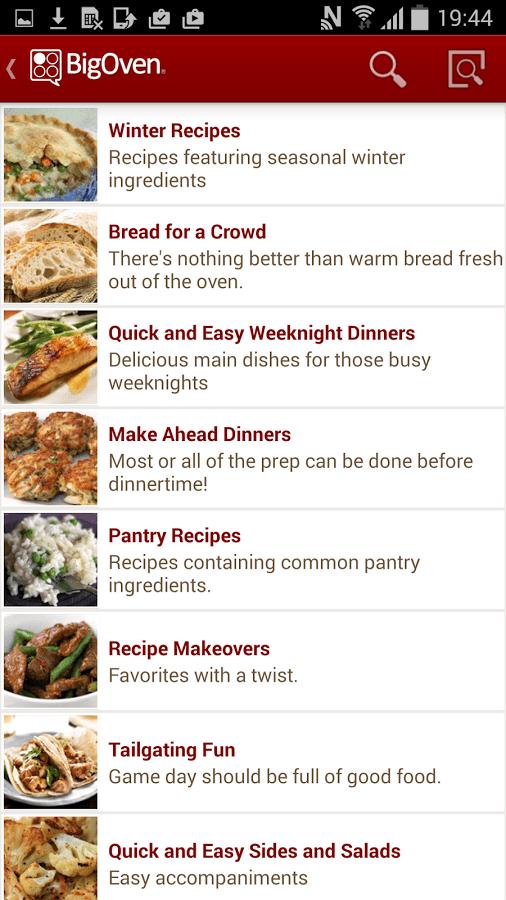 bigoven cooking app
