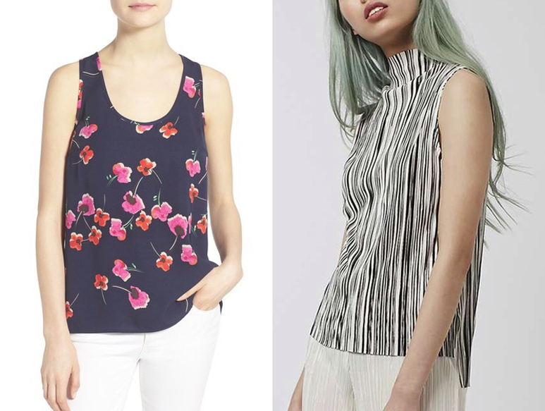 printed sleeveless tops for summer