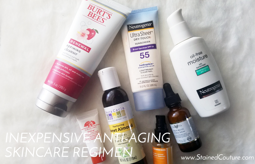 inexpensive anti-aging skincare regimen