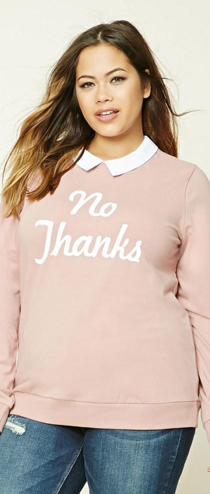 stylish graphic sweatshirt no thanks