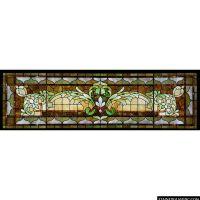 """""""Decorative Transom Window"""" Stained Glass Window"""