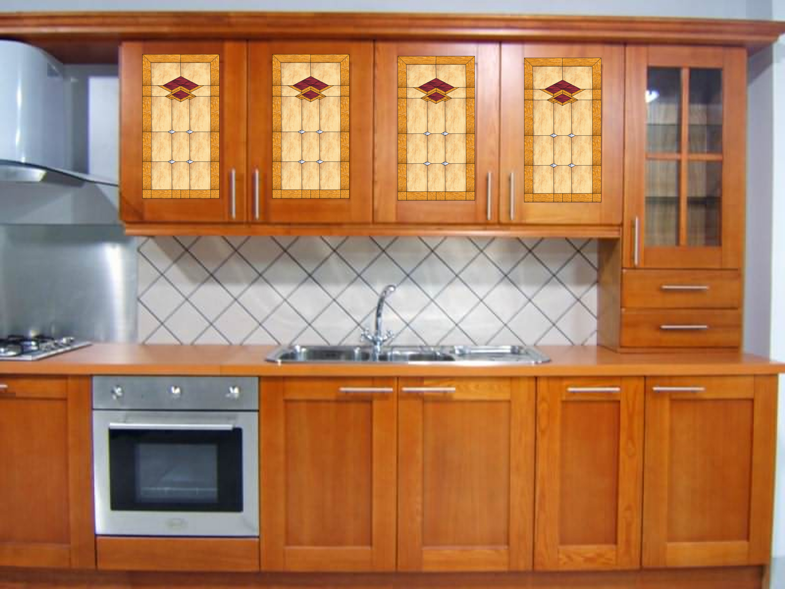 Glass For Kitchen Cabinets Inserts Kitchen Stained Glass Cabinet Inserts