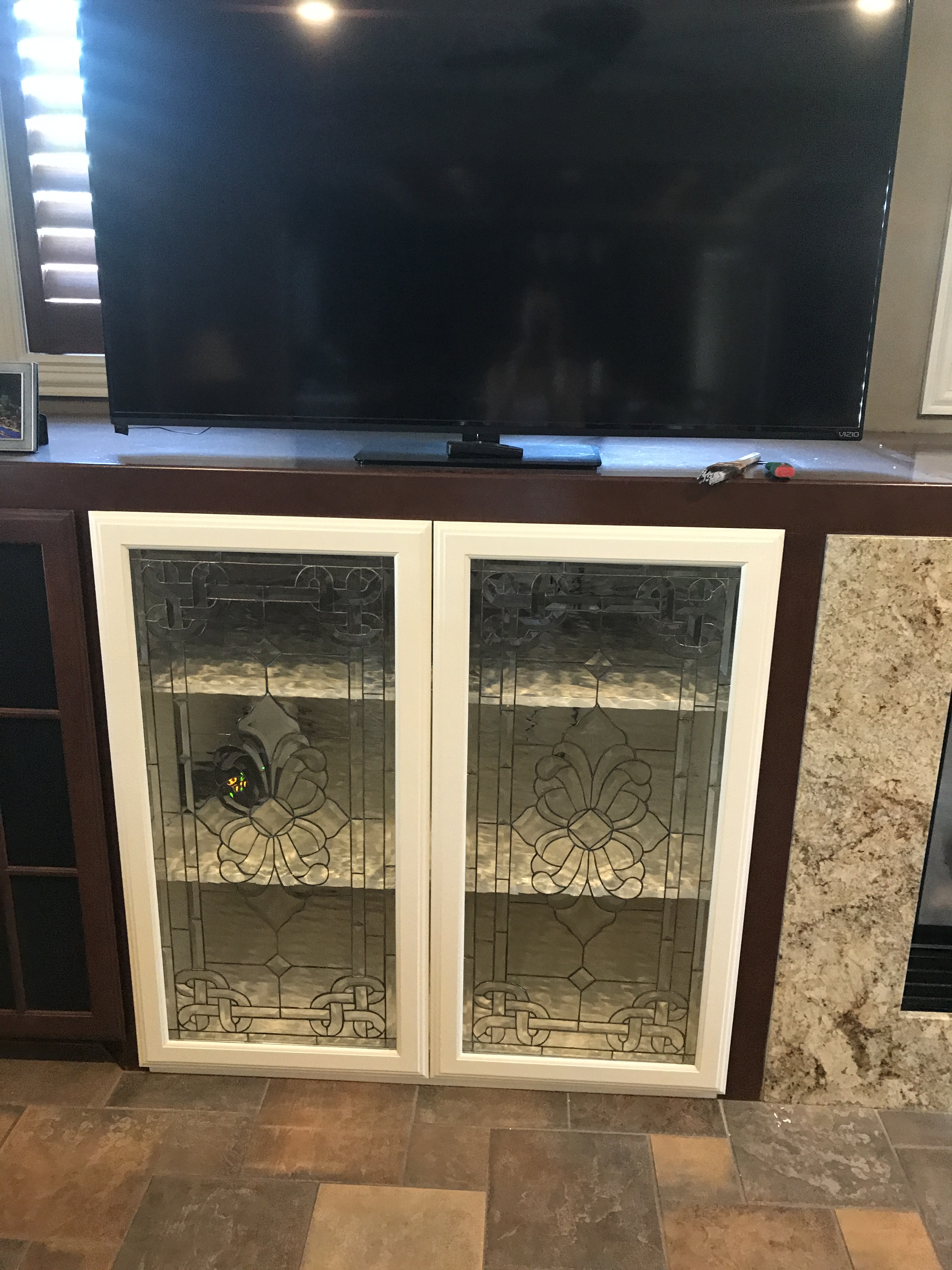 Kitchen Cabinet Textured Glass Beautiful All Clear Textured And Beveled Glass Cabinet
