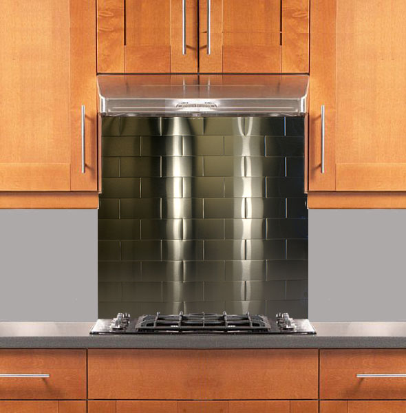 stainless supply stainless steel backsplashes stainless steel subway tile kitchen backsplash painted shaker