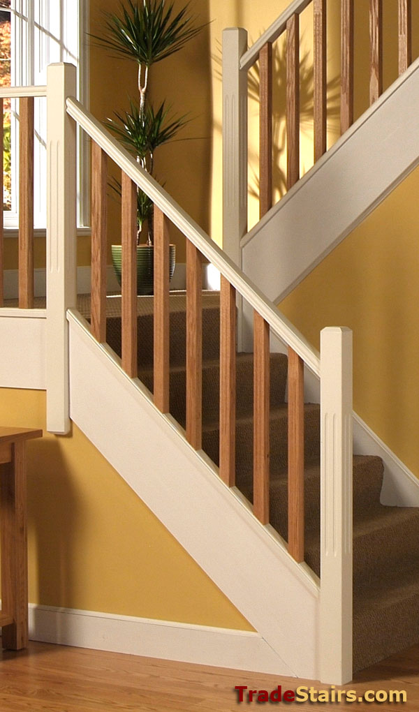 Double Staircase Double Reed Balusters | Oak Balusters | Cheshire Mouldings