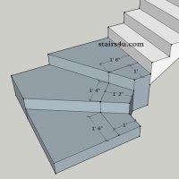 """Stairway landing. Is this a """"split landing""""?"""