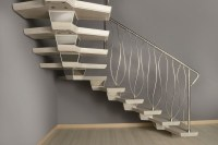 Central spine staircases bespoke and modular central spine