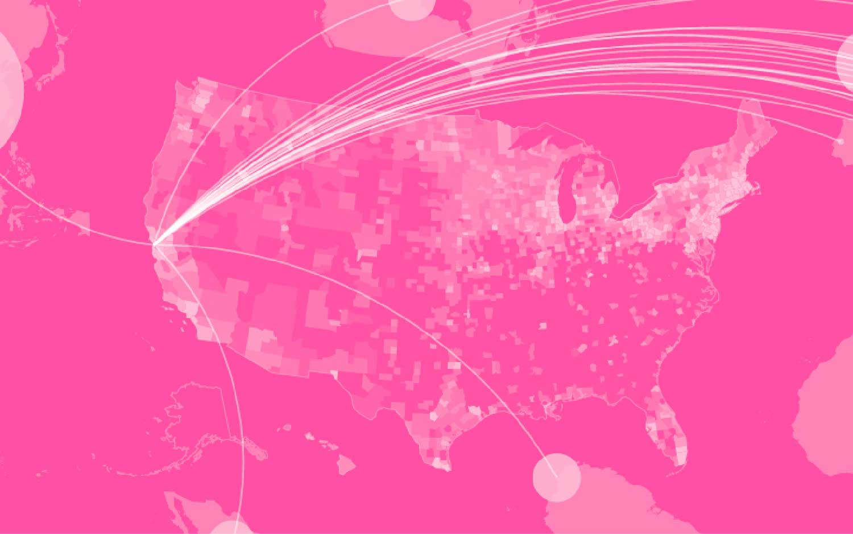 Wallpaper Falling Stars Stamen Design Data Visualization And Map Design Studio