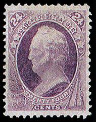 24¢ Scott - purple