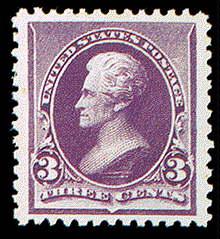 3¢ Jackson - purple