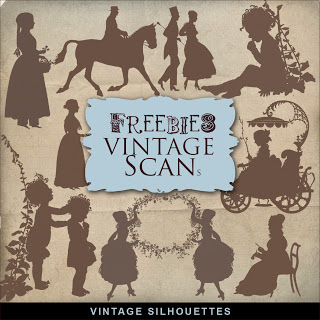 Freebies: Vintage Silhouettes