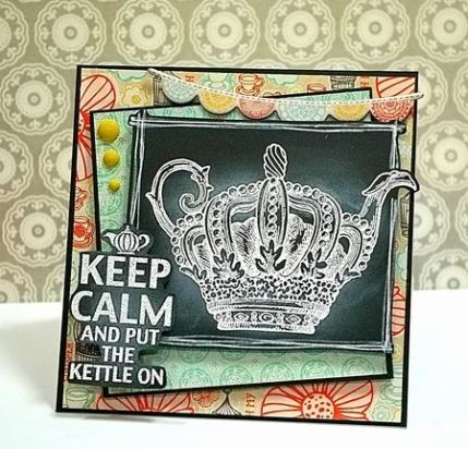 Technique: Chalkboard Style Teapot Card