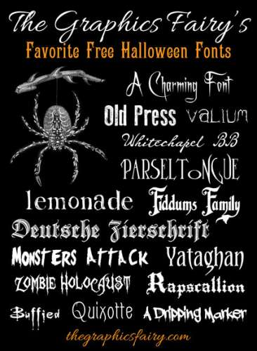 Freebies: Halloween Fonts
