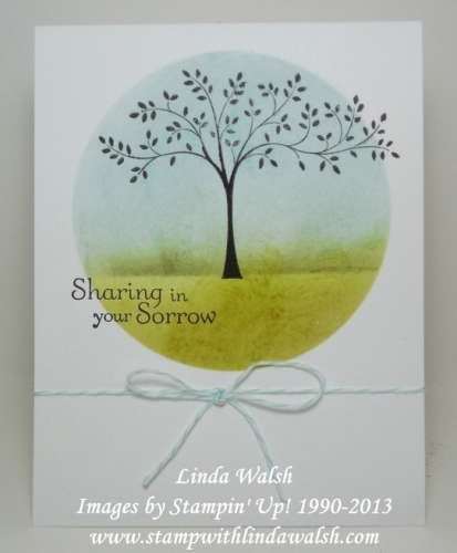 Tutorial: Sponged Scene for Stamped Cards