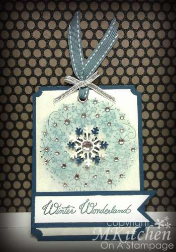 Project and Technique: Stamped Winter Tag