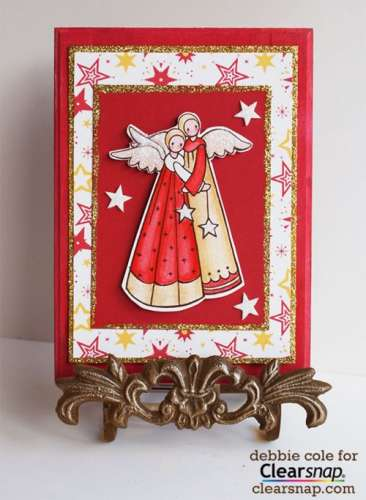 Project: Stamped Angel Plaque