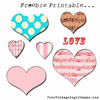 Freebie: Printable Hearts
