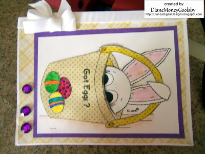 Freebie: Easter Bunny Digital Stamp