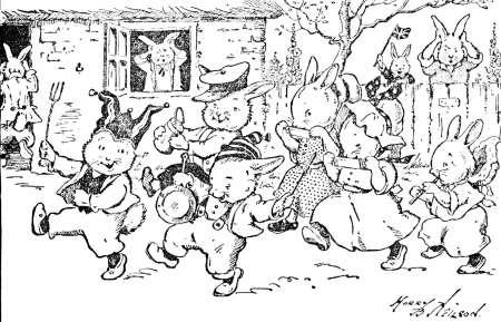 Freebie: Vintage Bunnies Image