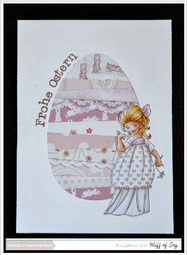 project: easter scraps card