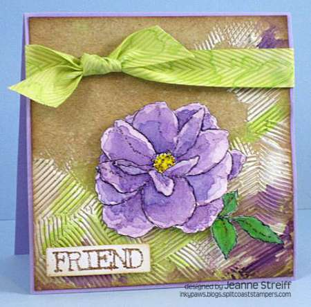 Project: Mixed Media Card with Pigment Inks
