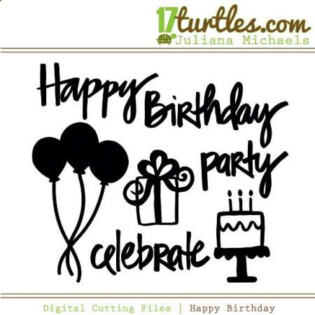 Freebie: Birthday Die Cut Files