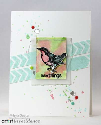 Project: Mixed Media Bird Card