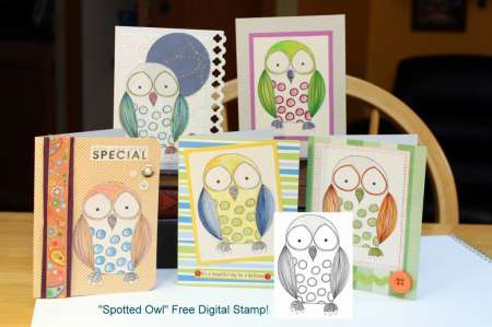 Freebie: Owl Digital Stamp
