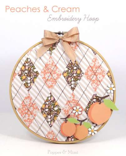 Project: Sewn Paper Embroidery Hoop