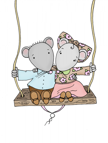 Freebie: Mice Digi Stamp