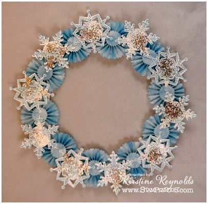 project: snowflake wreath