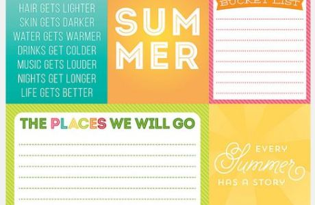 Freebie: Summer Printables