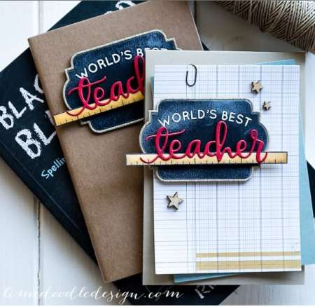 Project: Card and Notebook Teacher Gift