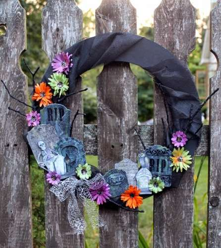 Project: Stamped Halloween Wreath