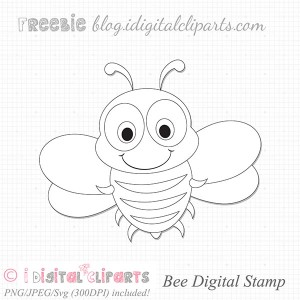 Freebie: Bee Digital Stamp