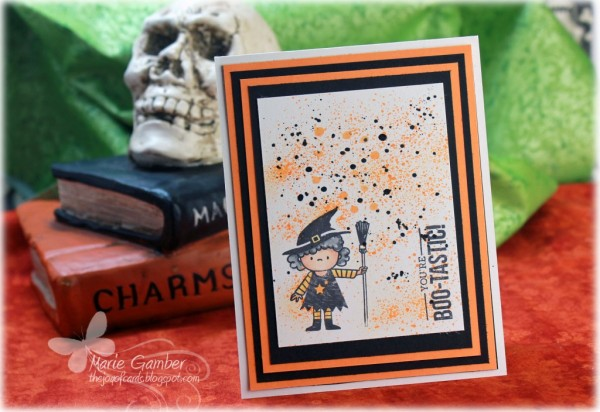 Technique: Halloween Card with Splatter Background