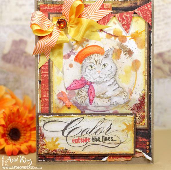 Project: Artsy Kitty Card