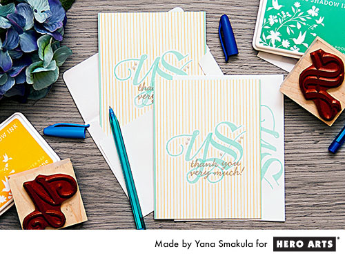 Project: Monogram Cards
