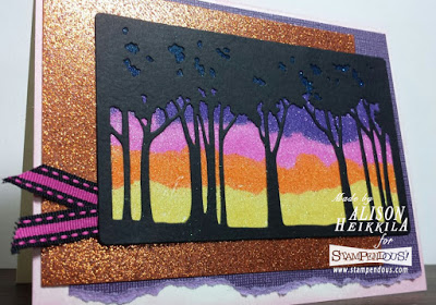 Project: Glitter Sunset Card