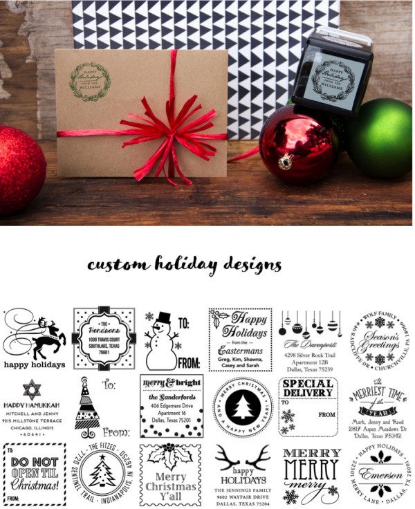 Product Release: Custom Holiday Stamps from Three Designing Women