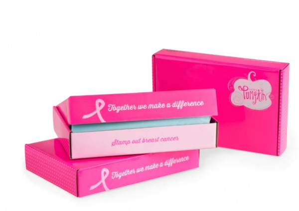 "Today thru October 10th, Stampin' Up! will donate $1 for every active Paper Pumpkin subscriber plus another $1 for every new subscriber to the Breast Cancer Research Foundation. When subscribers receive their October kit, it will be in a one-time only pink box with the slogan ""Stamp Out Breast Cancer""."