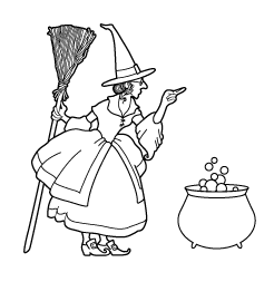 Freebie: Witch Digi Stamp
