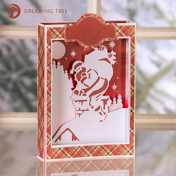 Freebie: Santa Paper Luminary Cut File